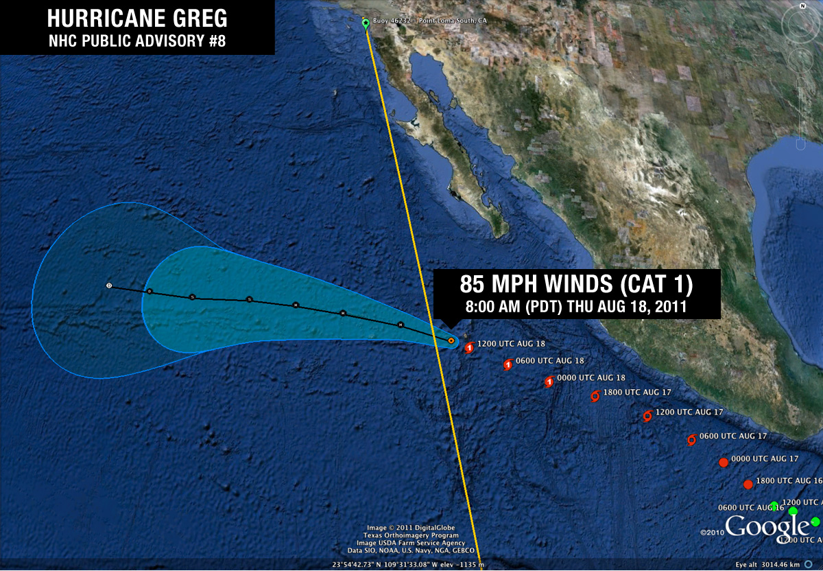 Hurricane Greg Public Advisory #8