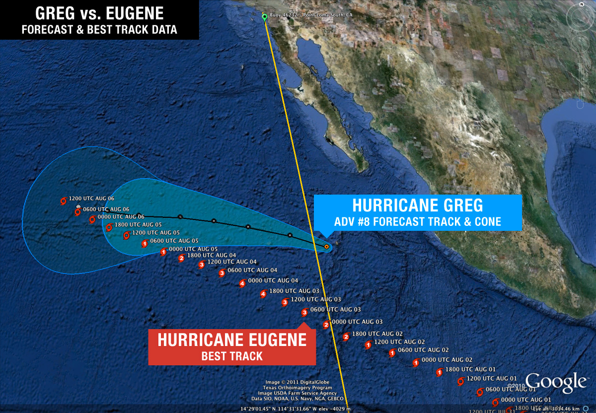 Hurricane Greg vs. Hurricane Eugene