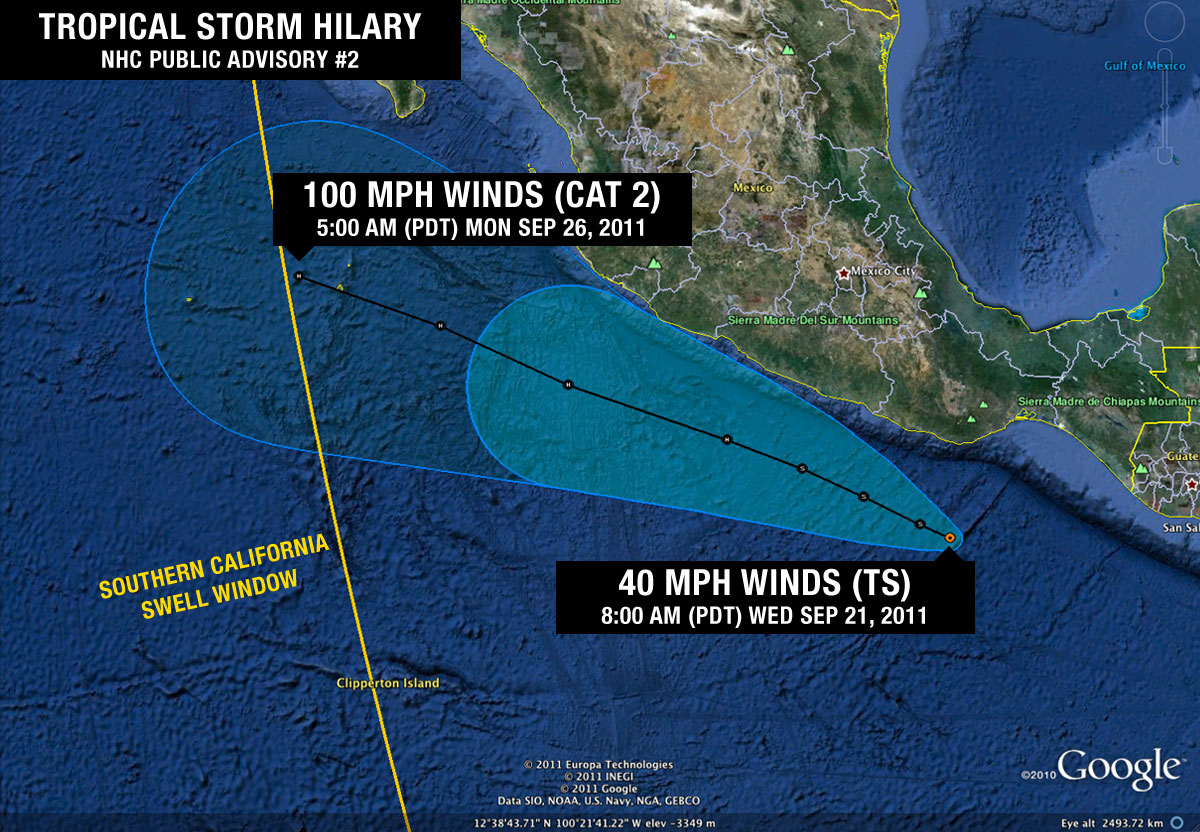 Tropical Storm Hilary Public Advisory #2
